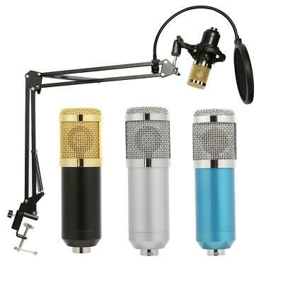 BM800 Microphone Kit Broadcasting Studio Recording KTV Condenser 3.5mm Audio