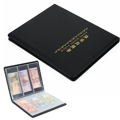 60 Contenitori pelle Banconote Conservare Carta Money Currency Album Cartella