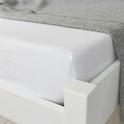!! CLEARANCE !! White King Size 100% Cotton 180 Thread Count Fitted Sheet