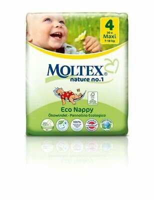 Moltex Eco Nappies Size 4 Maxi 7-18kg 30 Pack