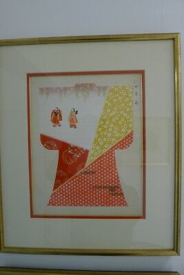 Two framed Original Japanese Woodblock Prints (Geirindo)