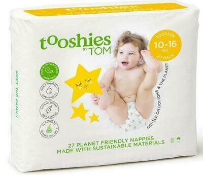 Tooshies by TOM Organic Nappies Toddler 10-16kg 27 Pack