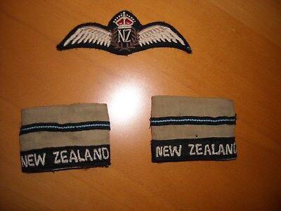 2WW  RAF NEW ZELAND air force  pilots  brevet / wing and officer rank  [B]