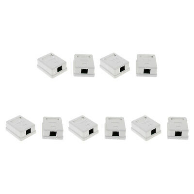 3x 1 port Cat6 Cat 6 RJ45 Network//Internet Cable Wall Surface Mount Compact Box