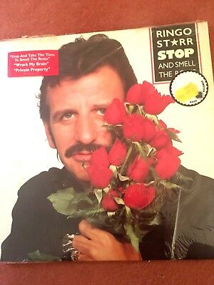 THE BEATLES RINGO STARR / STOP AND SMELL THE ROSES LP - 1961-Near Mint
