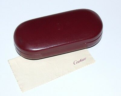 Vintage CARTIER Brillen Etui - Box - Hard Case - Echt Leder Bordeaux