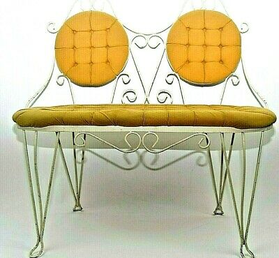 Vintage Ice Cream Parlor Style 2 Seated Bench Metal
