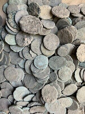 Ancient Uncleaned Roman Coins New Shipment From The balkans. Premium Coins