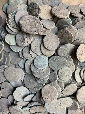 Ancient Uncleaned Roman Coins The balkans.