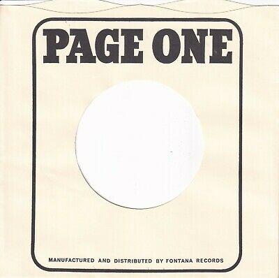 PAGE ONE Company Reproduction Record Sleeves - (pack of 12]