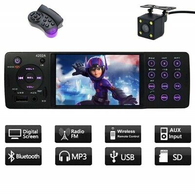 Indash Car Stereo Bluetooth Single Din FM Radio Wireless MP5 Player Receiver