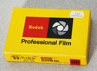 Outdated 6X9 Kodak Ektapan Film – Estar Thick Base