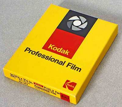 Unopened Box 6X9 Kodak Plus-X Pan Professional Sheet Film