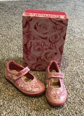 7f711149 Girls Pink Glitter Butterfly Lelli Kelly Shoes - Size 25 - Excellent  Condition