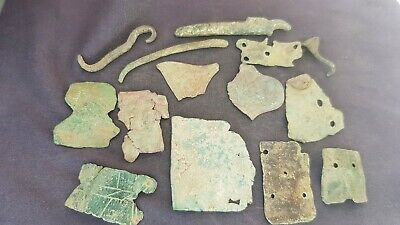 Nice lot of mixed Roman buckle parts damaged in Antiquity Please read desc L135d