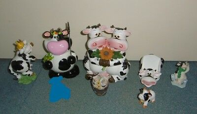 Lot Vache Tirelire Support Telephone Figurines En Tres Bon Etat