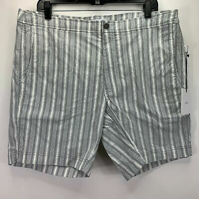 a9c67b8d28 ONIA MENS CALDER Vertical Striped Swim Trunks White Gray 36 - $39.97 ...