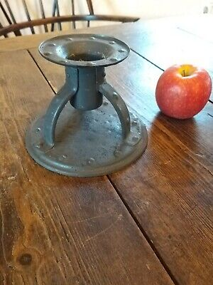 Goberg Hugo Berger Arts And Crafts Wrought Iron Candlestick