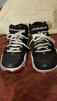 7e42afd685d Nike Jordan Basketball Shoes Size 5.5Y BCT MID 2 616363-003 Black White Red