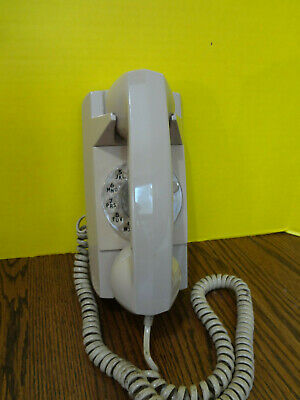 GTE AUTOMATIC ELECTRIC BEIGE Rotary Wall Mounted Phone VGC Untested ~FAST S/H~