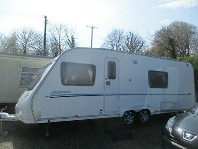 Sterling Europa 620 Fixed Bed 4/5 Berth Caravan 3 Awnings Motor Mover Extras