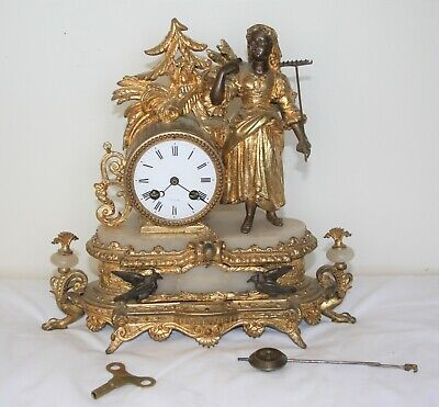 French antique mantle clock