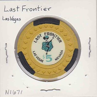 Vintage $5 chip from the Last Frontier Casino (1948) Las Vegas