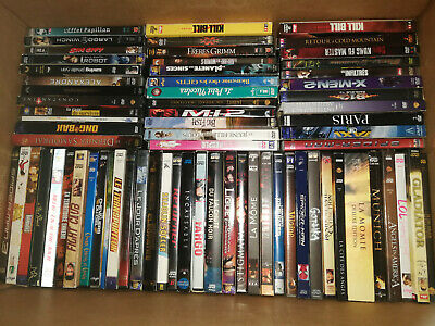 Lot de 70 DVD Films (dont neufs et collectors) + 4 Bluray offerts
