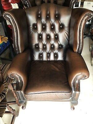 Queen Anne Style Chesterfield Chair