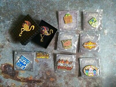 Firefly Serenity Loot Crate QMX Pin Lot of 9 from Cargo Crate