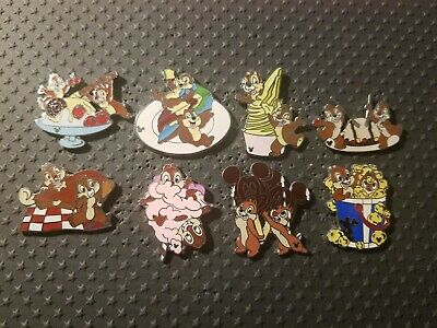 Disney Pin -Cast Lanyard / Hidden Mickey Series 4 & 5 - Chip n Dale Dessert