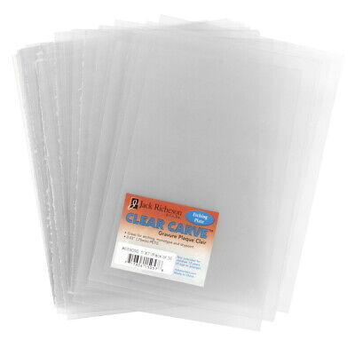 Jack Richeson Clear Carve Etch Plates, 5 x 7 Inches, Pack of 36
