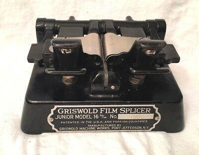 Antique 16mm Cast Iron Film Splicer By Griswold Machine Works Jefferson NY