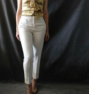 3ac1540886 SEE BY CHLOE Drop Crotch Tapered Skinny Silk Trousers Pants Sz 40 US ...