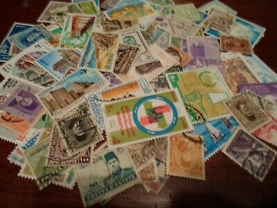 Collection lot 100 different stamps of Egypt