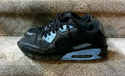 huge selection of 91f00 ada77 Nike Air Max 90 Mens Running Shoe Size 12 US Black Leather