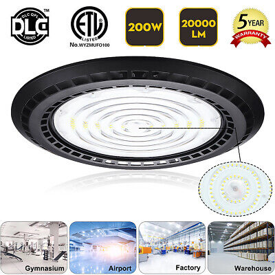 200W UFO LED High Bay Light Industrial Warehouse Dimmable Factory Shop Lamp