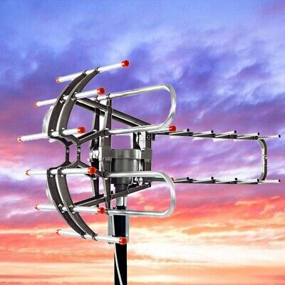 450 Miles Long Range HD Digital Antenna 360° Rotation Outdoor TV Antenna VHF UHF