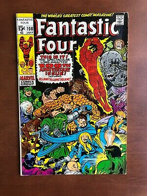 Fantastic Four #100 (1970) 6.5 FN Marvel Key Issue Comic Bronze Age Jack Kirby