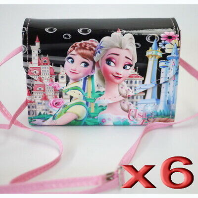 6pc Wholesale Kids Children Girls Frozen Long Crossbody Handbag Shoulder Bags