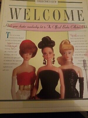MIB NRFB 17784 Official Barbie Collector/'s Club Welcome Kit 1996