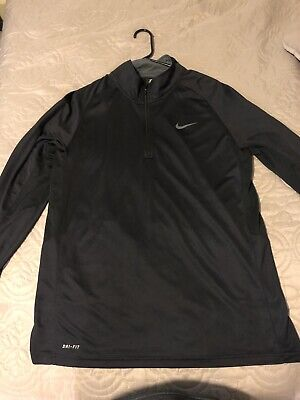 7f5961a67 NIKE driFIT ELITE Black Long Sleeve Athletic crossFIT Exercise Shirt mens XL
