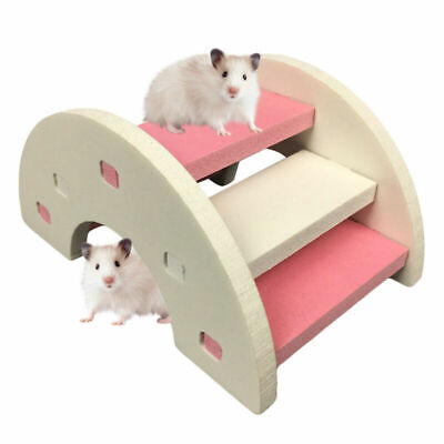 Wooden Hamster Playing Bridge Toy Rainbow Seesaw Cage Various Pet Rat Funny