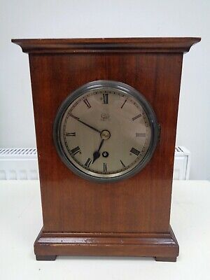 Antique/WW1? Elliott? Mantel/Bracket Clock Fusee Movement George V Air Ministry?