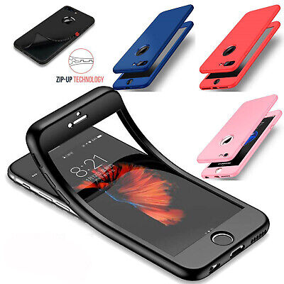 Thin Shockproof Hybrid 360 TPU Gel Cover Case For Apple iPhone XS Max XR 7 Plus