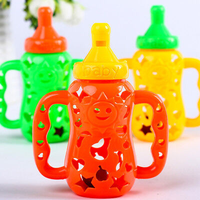 Unique Hollow Baby Whistle Rattle Feeding Bottle Shape Toy Early Education Toy