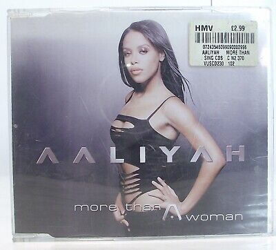 AALIYAH More Than A Woman CD Single 4 Track