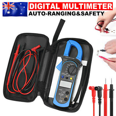 Digital Clamp Multimeter Amp Meter OHM AC Current Voltage Volt Tester Probe