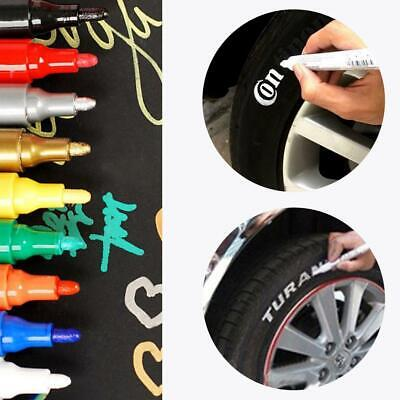 10x Black Waterproof Permanent Rubber Paint Marker Pen Car Tyre Tire Tread 3mm