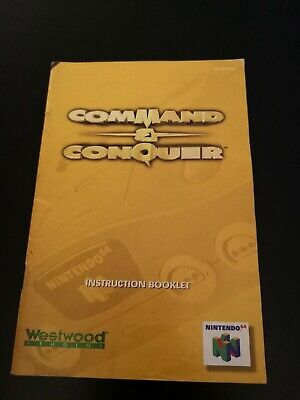 Nintendo 64 Command & Conquer manual booklet only N64